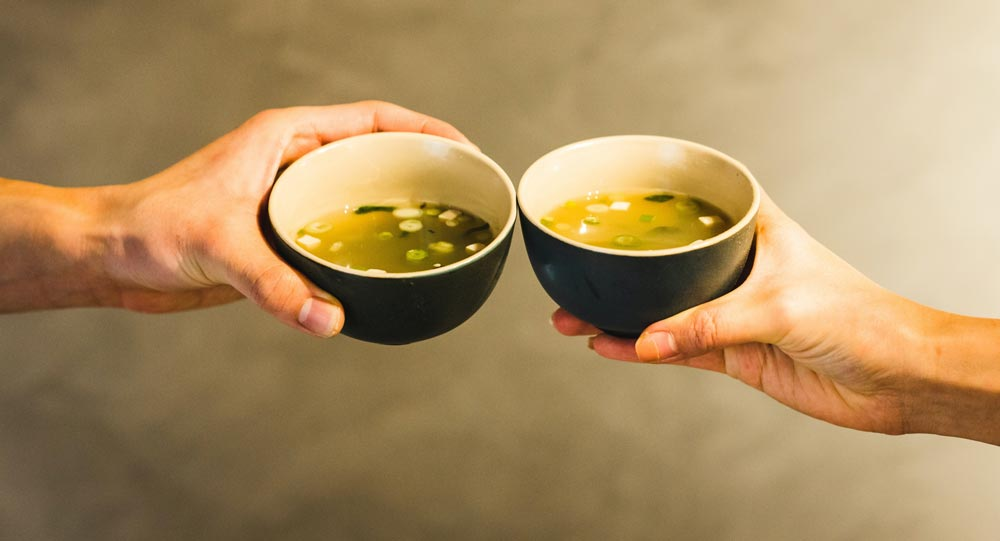 Spirulina Bone Broth Miso Soup